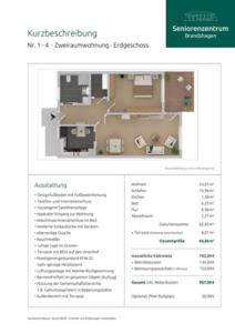 Kurzbeschreibung Wohnungen 1 - 4