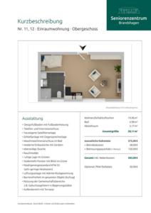 Kurzbeschreibung Wohnungen 11 und 12