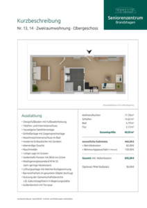 Kurzbeschreibung Wohnungen 13 und 14